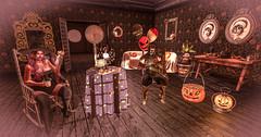 #TeaParty (Lazy Days SL) Tags: secondlife madpea halloween costumes furniture decor avatars fun prizes terrifyingtaletrail