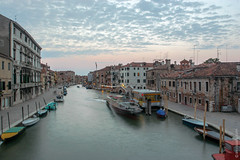 Dawn in Venice (Italy) (thedot_ru) Tags: venice italy river canal calm buildings architecture water sky noclouds night afterdark sunset europe travelling travel travels tourism tourist trip adventure wanderlust eu 2005 dawn