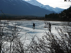 Pond Ice Skating Banff (Mr. Happy Face - Peace :)) Tags: pond rockies banff alberta canada cans2s iceskating outdoors activity albertabound