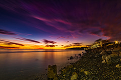 One Minute Sunset! (RussellK2013) Tags: 2019 whiterock beach nikon nikkor ngc nature nationalgeographic britishcolumbia longexposure lowlight canada water waterscape night nightscape nightphotography d750 1635mmf4ged 1635mm 1635mmf4vr travel tripod atmosphere moody beautiful color colour colours colors shore shoreline dramatic sea ocean