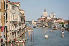 San Simeone Piccolo during The Day (Venice, Italy) (thedot_ru) Tags: cathedral sansimeonepiccolo building river canal boats architecture water sky noclouds venice europe travelling travel travels tourism tourist trip adventure wanderlust eu 2005