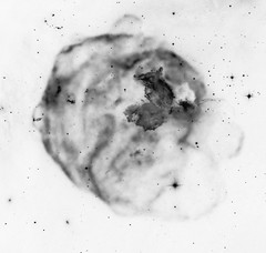 LMC N63A, variant (sjrankin) Tags: 2november2019 edited nasa xray chandraspacetelescope chandra grayscale lmcn63a nebula