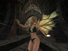 And Light The Evening Star (Cherie Langer) Tags: elves elven forest dance dancer dancing fantasy fae elf blonde magic starlight night