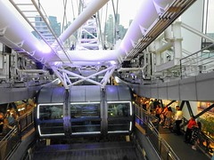 Entrance to Singapore Flyer cabins (Mark Tindale) Tags: singaporeflyer singapore wheel cabin marinabay