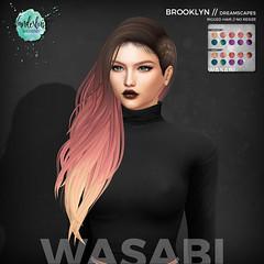 Brooklyn Hair // Wanderlust Edition (Wasabi // Hair Store) Tags: wasabipills hair mesh 3d secondlife maitreya catwa aviglam pinkfuel osmia league izzies