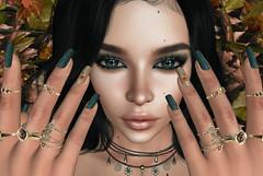 ❤ Fallen Leaves (Aziza Style) Tags: {zoz} cosmopolitanevent lelutka glamaffair aviglam izzies veechi cazimi alaskametro meva truth synnergy secondlife