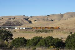 Eastbound Up the Hill (imartin92) Tags: christie california railroad train railway ge freight bnsf generalelectric dash9 gevo c449w es44ac locomotive 4161 5541 7963 4260 7277
