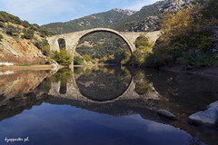Polyanthos' bridge (kzappaster) Tags: bridge stonebridge sony sonya7 sonya7iii sonya7m3 24105mm fe24105mmf4goss mirrorless river kompsatos komotini thrace greece reflection polyanthos