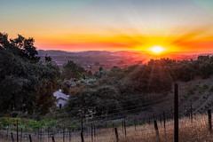 Stillwaters Sunset (larwbuck) Tags: autumn building california colors evening fall fence foothills sky structures sunset