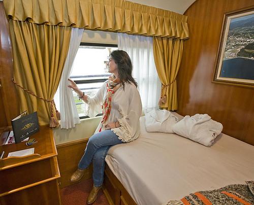 Costa Verde Express cabin passenger