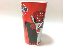 CINEMARK MOVIE CLUB MEMBERS GET 20% OFF SNACKS Strawberry Fanta Coca Cola (Majiscup Paper Cup Museum 紙コップ美術館) Tags: papercup cinemark movie club members get 20 off snacks fanta coca cola strawberry