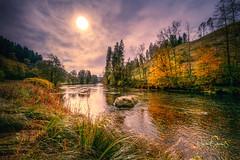 """Autumn wonderworld - river Ilz, Bavarian Forest. (nigel_xf) Tags: gutfeuerschwendt """"bavarian forest"""" """"bayrischer wald"""" niederbayern sunset sonnenuntergang mist fog nebel sun sonne abendsonne deutschland germany bayern bavaria """"ferien mit hund"""" """"holiday with dog"""" nikon d850 nigel nigelxf vsfototeam forest wald bäume trees tannen herbst autumn herbstfarben """"autumn colors"""" landschaft landscape berge hügel hills mountains ilz flus river"""