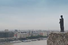 Budapest, Hungary. (Manoo Mistry) Tags: budapest hungary europe sky riverdanube hill statue