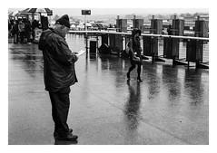 FILM - Leaning (fishyfish_arcade) Tags: 35mm 800asa analogphotography bw blackwhite blackandwhite doncasterracecourse filmphotography filmisnotdead hp5 istillshootfilm monochrome olympusom1 analogcamera fzuiko50mmf18 film ilford mono streetphotography