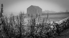 Stainton . (wayman2011) Tags: colinhart fujifilm35mmf2 fujifilmxt1 lightroom5 wayman2011 bwlandscapes mono rural oldbarns mist pennines dales teesdale stainton countydurham uk