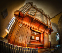 Photo of Amazing Woodwork and Pipework of the Church Organ