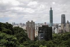 Taipei skyline (Liang Hung Ma) Tags: mountain building beautiful skyline taipei 101tower cloud tree