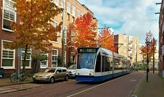 Langs de Lijn: Herfstvuur (Peter ( phonepics only) Eijkman) Tags: amsterdam city combino gvb tram transport trams tramtracks trolley rail rails strassenbahn streetcars nederland netherlands nederlandse noordholland holland