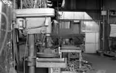 Small ironworks (odeleapple) Tags: leica m3 carl zeiss planar 50mm kodaktmax400 film monochrome analog bw ironworks