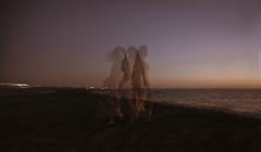 Self portrait (Paola Valli) Tags: sea mare portrait self nikon vogue italy 2470mm tamron landscape people woman donna girl dance wind sky cielo sunset tramonto body light shadows colours crea creamy