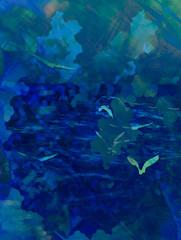 Blue Monday (soniaadammurray - On & Off) Tags: digitalart art myart visualart abstractart experimentalart contemporaryart cliche hcs shadows reflections blue sky birds sadness emotions mood artchallenge clichesaturday he pe per