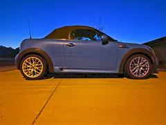 Go Bear (oybay©) Tags: minicooper mini cooper bmw car automobile sunset sky blue pavement dusk color colors suncitywest arizona az angle perspective