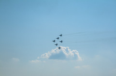 Strizhi on MAKS Air show 2019 (andrey.isakov) Tags: plane fighter jet sky airshow maks russia moscow blue mig strizhi aircraft flight dslr canon