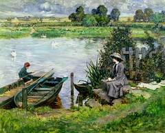 Albert Chevallier Tayler - The Thames at Benson 1912 (Sabri KARADOĞAN) Tags: nature landscape water abstract blue art trees sky green newyork clouds white red sunset flower colorful winter chicago adamasar celestialimages flowers snow beautiful tree yellow photography beauty color skyline beach ocean black vintage wildlife old blackandwhite forest rocks leaves architecture bison travel modern outdoors light love autumn mountains city sea