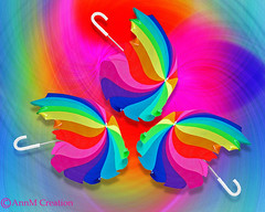 Rainbow Days (_Ann m_) Tags: brolly umbrella rainbow colour colours colors manipulation mmm mmmchallenge photoshop photomanipulation photoart