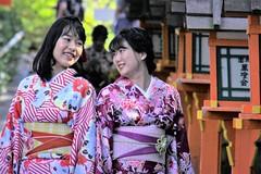 Happiness (L. Felipe Castro) Tags: traditional culture kimono genuine geisha smile fun friends pretty beautiful japanese japan asian girls girl