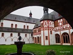 Claustro del antiguo Monasterio de Eberbach. (lumog37) Tags: monasterios monastery claustros cloisters fuente arquitectura architecture fountain