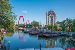 Oudehaven Rotterdam (vmandyev) Tags: travel blue architecture rotterdam nikon harbour netherland tamron oudehaven nikond5500 bridge