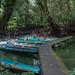 Landestelle vor der Clearwater Cave, Gunung Mulu Nationalpark, Borneo