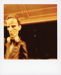 Mad World Frank (tobysx70) Tags: polaroid originals color 600 instant film slr680 frank mad world records west hickory street denton texas tx frankenstein monster mannequin showroom dummy window display headphones cans night nocturnal illuminated polacon4 polacon2019 polacon 092919 toby hancock photography