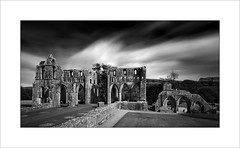 Dundrennan Abbey 2 (tkimages2011) Tags: dundrennan abbey monument decay ruin scotland cistercian monastery romanesque transept mono monochrome bw outside outdoor sandstone stone sky clouds building architecture maryqueenofscots le longexposure