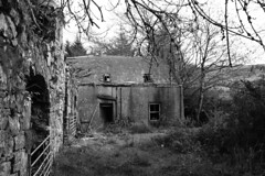 The Old Mill house (Dave Russell (1.5 million views thanks)) Tags: old building mill millhouse house derelict remains glenree sliddery isle island arran clyde west western scotland ecosse outdoor autumn 2019 canon eos eos7d 7d photo photograph photography atmospheric bw black white blackandwhite mono monochrome