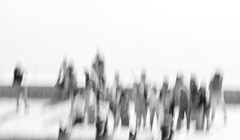 We are temporary arrangements (Sanda_77) Tags: bnw blackandwhitephotography noir monochrome blur blurphotography icm cameramovement artphotography painterly