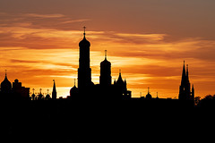 Moscow Silhouettes (gubanov77) Tags: moscow russia sunset silhouette city cityscape urban architecture building goldenhour glow dusk twilight moscowkremlin kremlin moscowphotography church