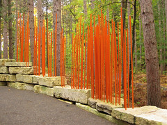 Start Here! (Bruces 51) Tags: whiting forest dow gardens midland michigan canopy walk orange color scheme structural features
