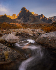 Mountain Flow (tms\) Tags: yukon tombstone territorial park sunset mountains river stream flow light wilderness