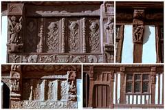 Détail des sculptures de la maison Henri IV à St-Valery-en-Caux (Philippe_28) Tags: saintvaleryencaux caux 76 seinemaritime france europe normandie normandy argentique analogue camera photographie film 135