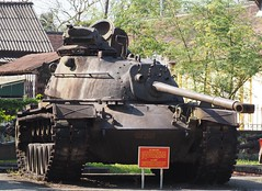 M48, Hue, Vietnam (Hammerhead27) Tags: captured rusty hull turret tracks gun military vehicle american m48 armor armour machine war vietnam hue display preserved wreck old tank