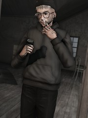 ☠ DEPRESSION (Shock Q'Kell) Tags: secondlife sl lelutka head guy mesh bento signature body gianni modulus hair slhair sorgo glasses andore ears realevil rings volkstone etham hoodie coat facialhair bloggers slbloggers style fashion moda slmoda photo slphoto male man men boy picture slpicture amazing