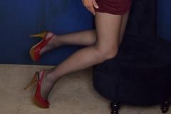 Leg shot 6 (ericaklein8) Tags: legs stockings pantyhose heels shoes tv tg td ts trans transgender hot fetish beautiful sexy