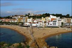 View from Sa Palomera   Blanes, Catalonia (Flemming J. Gade) Tags: town bridge sea beach houses boats blanes catalonia