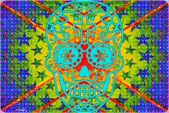 Stardust! (Marcia Portess-Thanks for a million+ views.) Tags: november2 dayofthedead díadelosmuertos elartedigital digitalart elarte art estrellas stars colors colourful sugarskull calavera marciaaportess marciaportess map stardust