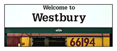 Wiltshire Welcome (david.hayes77) Tags: dbcargo shed class66 66194 westbury wilts wlitshire 2019 arty gwr greatwesternrailway graphic sign signage cameo