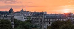 Paris (Yann OG) Tags: paris parisien parisian france français french paris19 xix sunset coucherdesoleil butteschaumont parc park montmartre sacrécoeur panorama panoramique panoramic 50mm hdr highdynamicrange