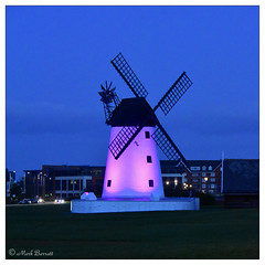 Lytham Windmill - night illumination (M a r k . . . . . . . . . . . . .) Tags: lytham coast lancashire fylde fyldecoast dark night lowlight nighttime afterdark windmill lythamwindmill