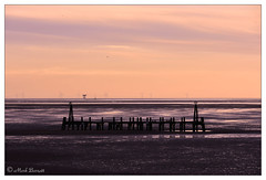 St Annes Jetty at Sunset (M a r k . . . . . . . . . . . . .) Tags: lytham lancashire fylde coast fyldecoast dusk sunset lythamstannes stannesjetty